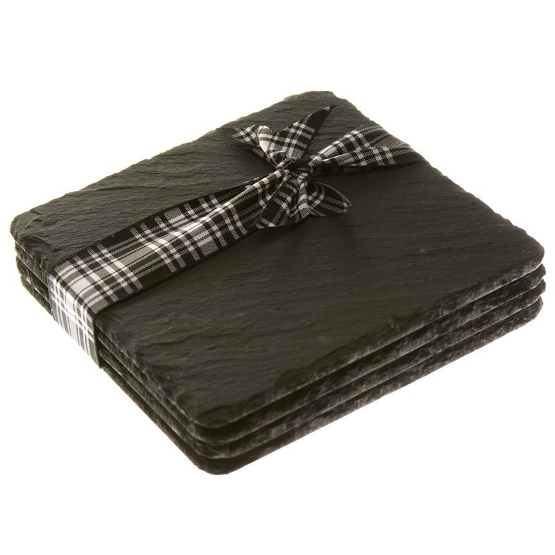 Just Slate Scottish Slate Square Coasters