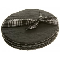 Just Slate Scottish Slate Round Coasters