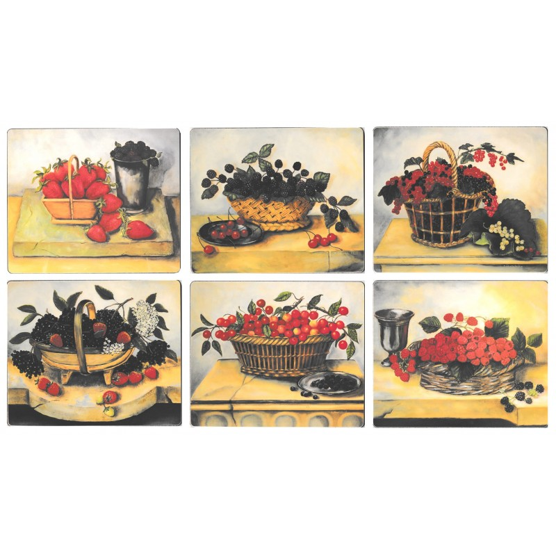 Lady Clare Summer Fruits Coasters
