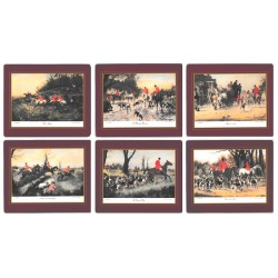 Lady Clare Hunting Scenes Coasters