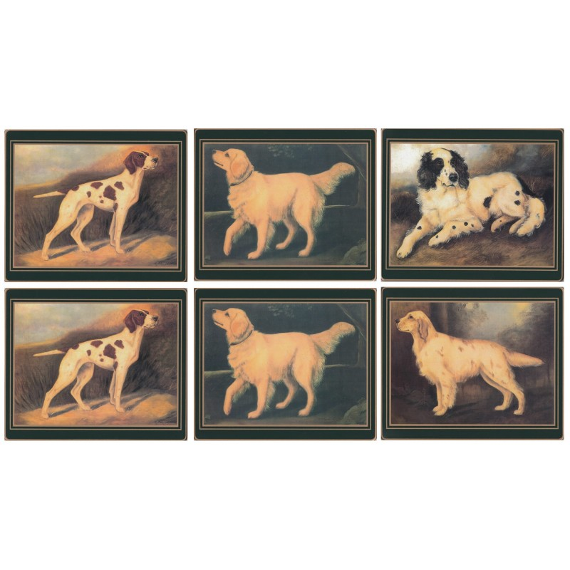 Lady Clare Sporting Dogs Coasters