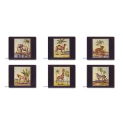 Lady Clare African Animals Coasters