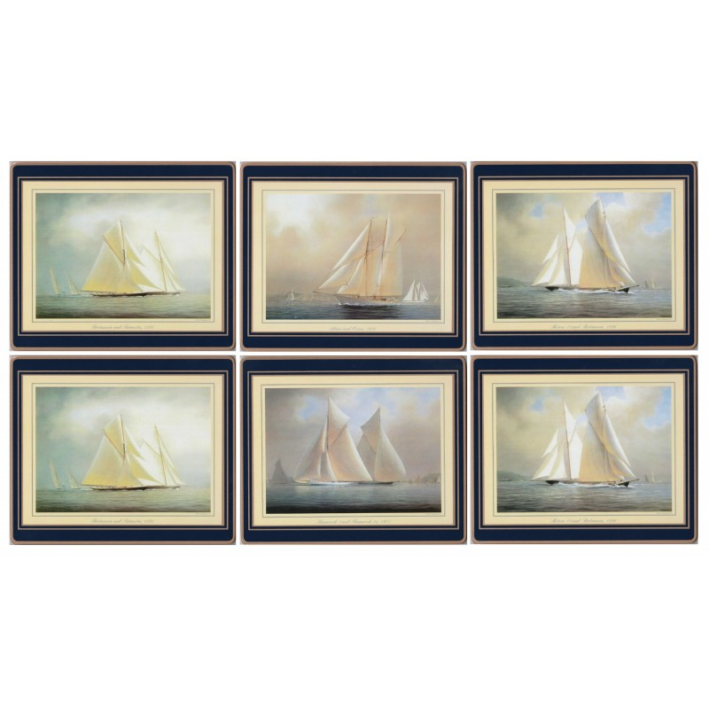 Lady Clare Racing Yachts Coasters