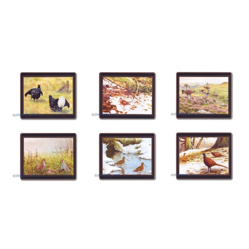 Lady Clare Game Birds Coasters