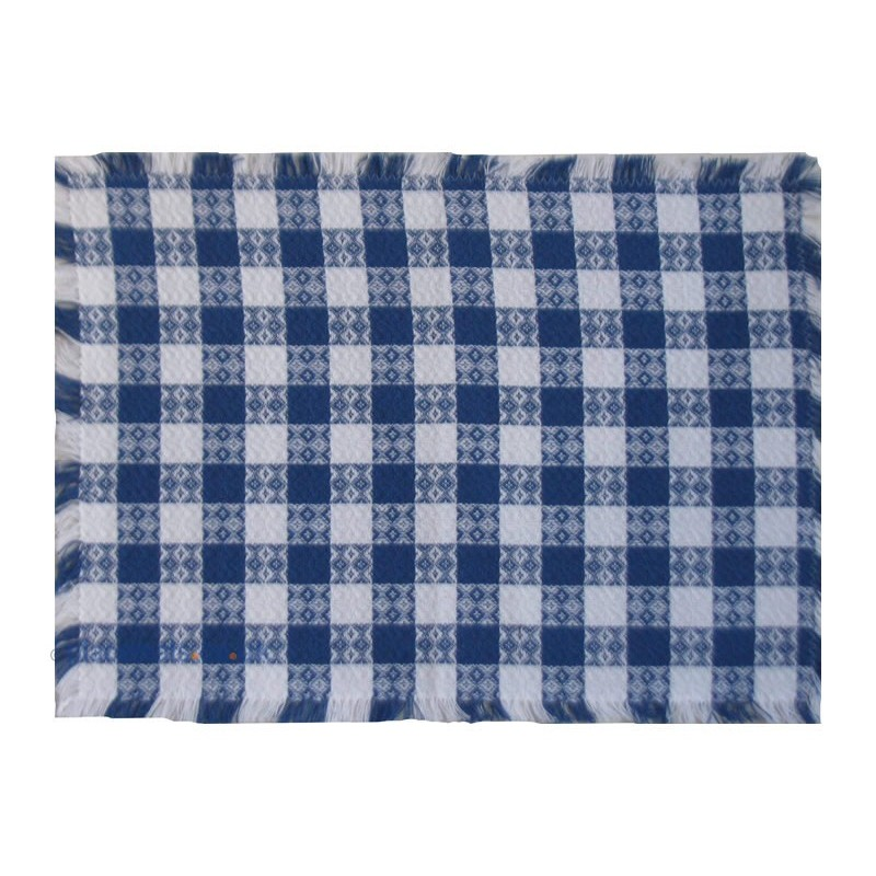 Mountain Weavers Tavern Check blue white cotton placemats
