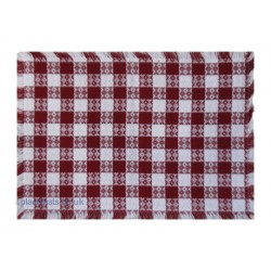 Mountain Weavers Tavern Check red white cotton placemats