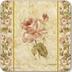 Pimpernel Antique Rose Linen Coasters