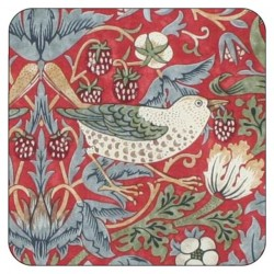 Pimpernel Strawberry Thief Red Coasters