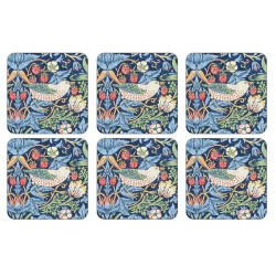 Pimpernel Strawberry Thief Blue Coaster set William Morris pattern