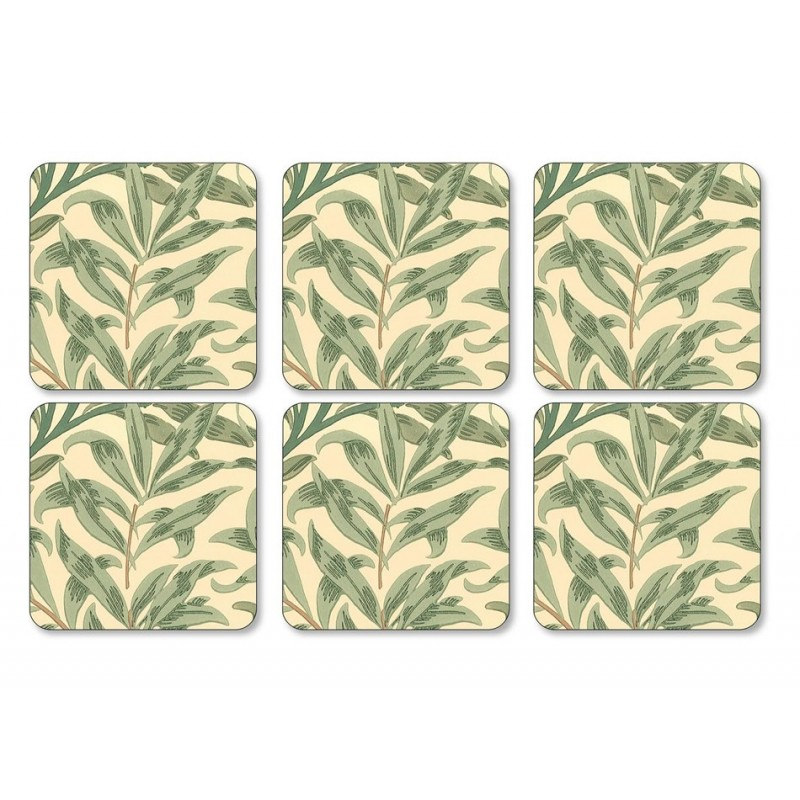 Pimpernel Willow Boughs Green Coaster