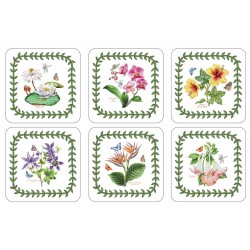 Pimpernel Exotic Botanic Garden drinks coaster set of 6 different floral images