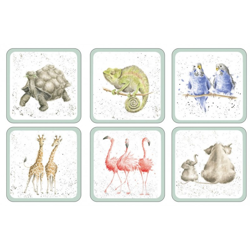 Pimpernel Wrendale Zoological coasters