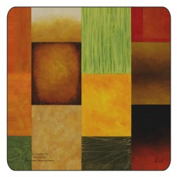 Plymouth Pottery Majestic Squares Coasters