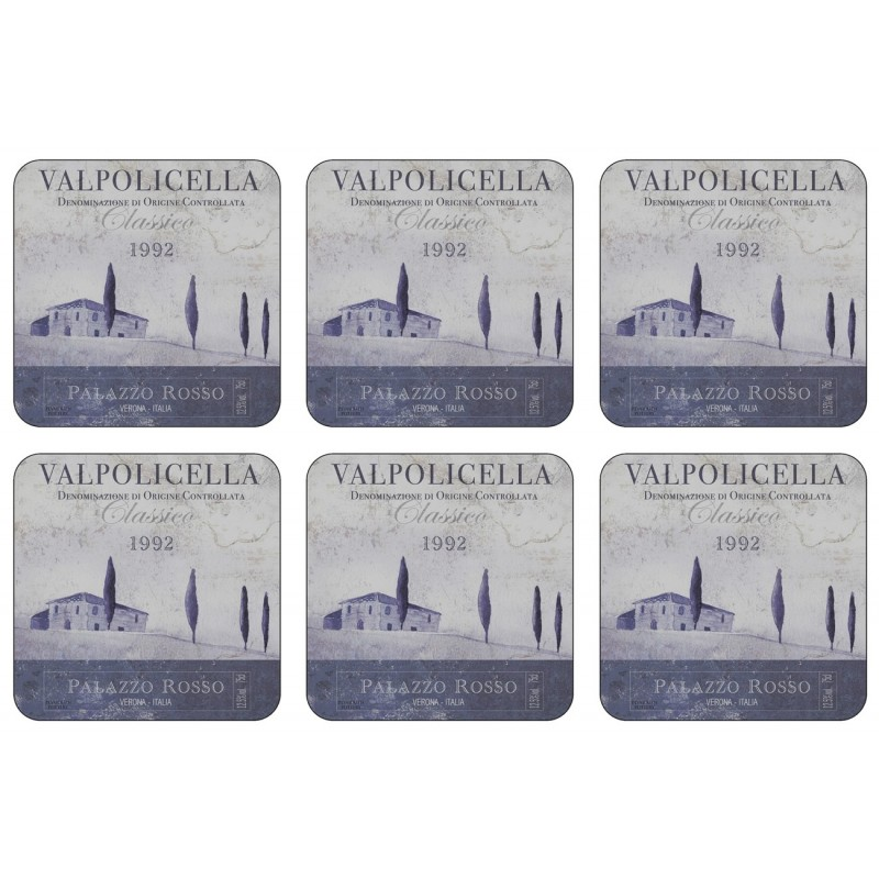 Plymouth Pottery Vino Italiano Coaster