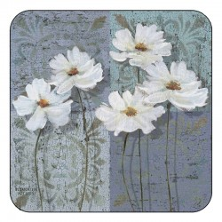 Plymouth Pottery White Poppies Coasters