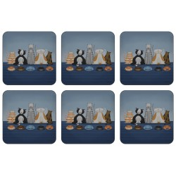 Plymouth Pottery Hungry Cats Coaster