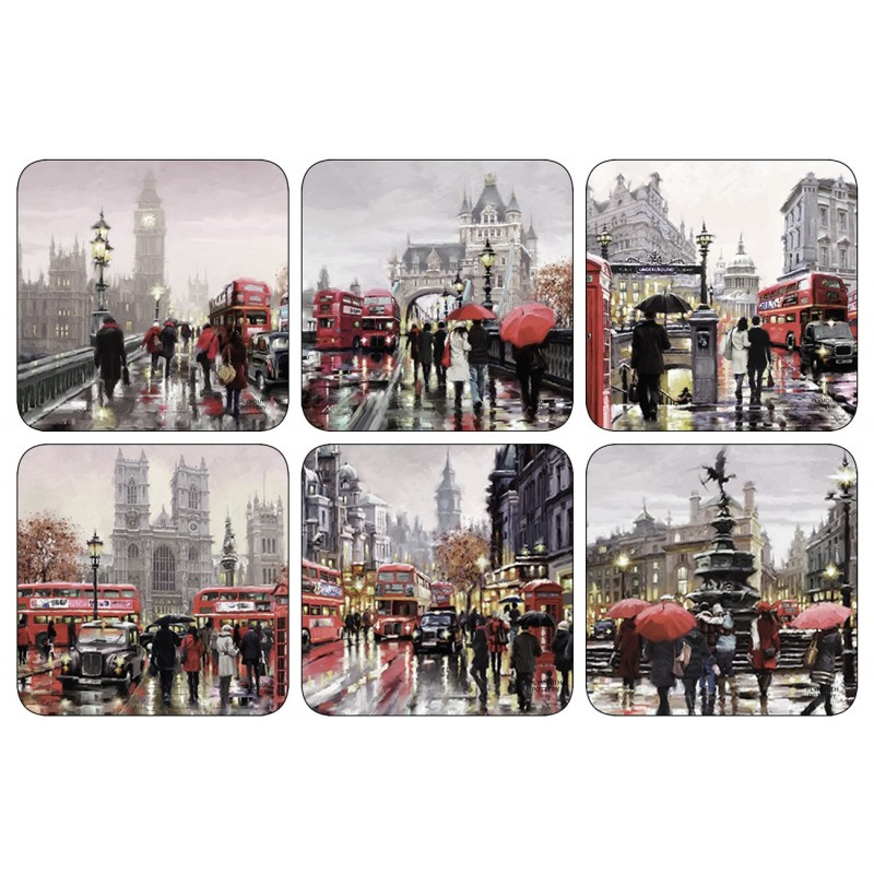 Plymouth Pottery Streets of London Coaster