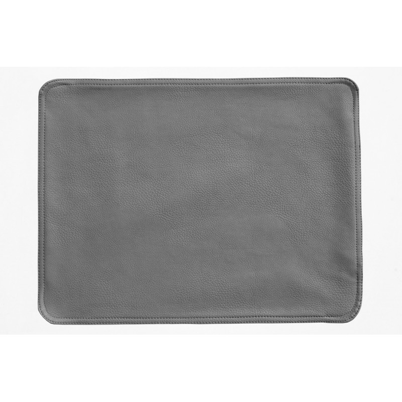 Faux Leather Placemats Grey