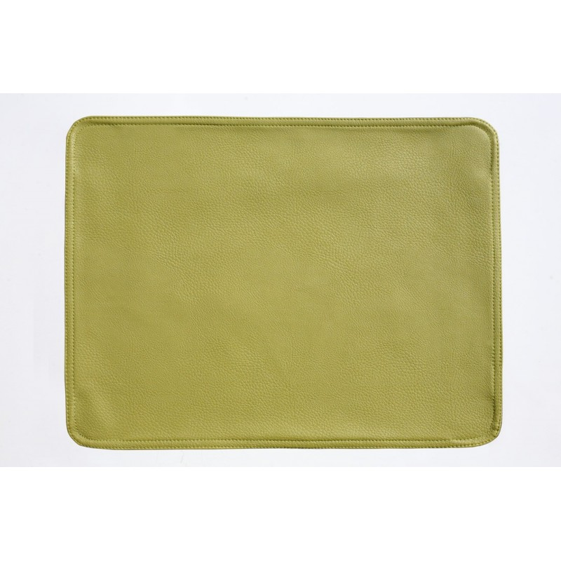 Faux Leather Placemats Lime