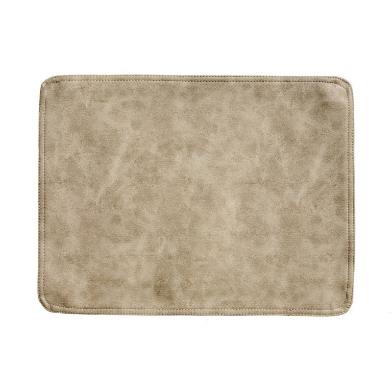 Faux Leather placemats beige