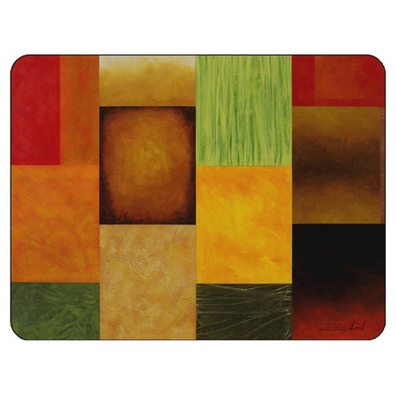 Plymouth Pottery Majestic Squares Placemats