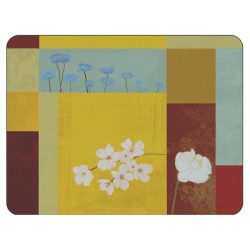 Plymouth Pottery Daisy Squares Placemats