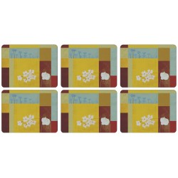 Plymouth Pottery Daisy Squares Tablemats