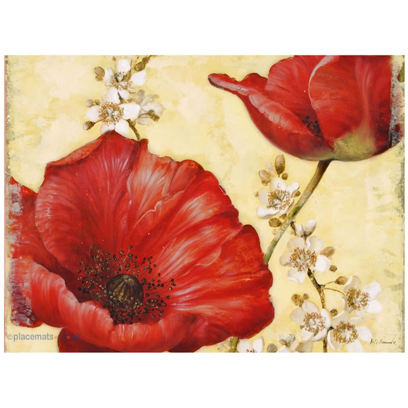Pimpernel Poppy de Villeneuve placemats