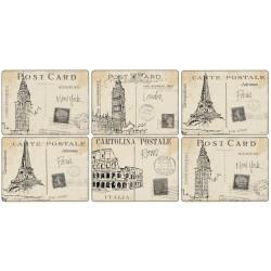 Pimpernel Postcard Sketches Tablemats