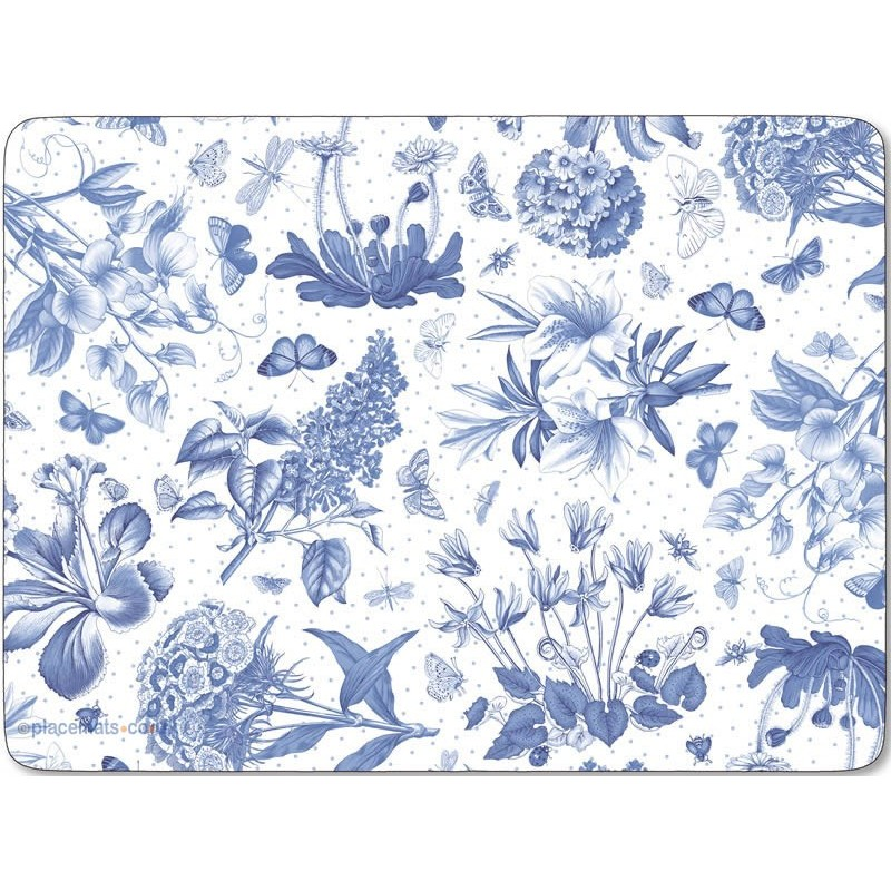 Pimpernel Botanic Blue Large Placemats