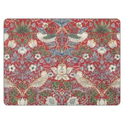 Pimpernel Strawberry Thief Red Large Placemats