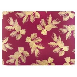 Pimpernel Sara Miller Etched Leaves Pink Large Placemats