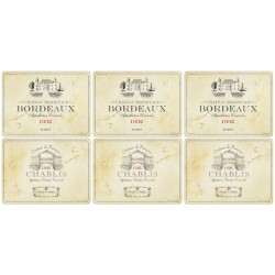 Pimpernel Vin de France placemats set of 6