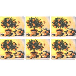 Lady Clare Orange Tree Coaster set of 6