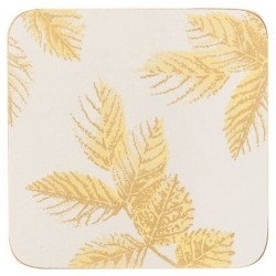 Pimpernel Sara Miller Etched Leaves Light Grey coasters