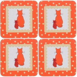 Ulster Weavers Cats in Waiting Coasters set of 4