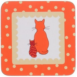 Ulster Weavers Cats in Waiting Coasters