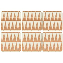 Pip Pittman Orange Coaster Set of 6