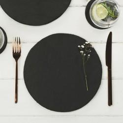 Just Slate Scottish Slate Round Tablemats