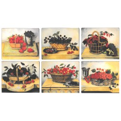 Lady Clare Summer Fruits Placemats Set of 6