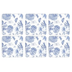 Pimpernel Botanic Blue Coaster Set of 6