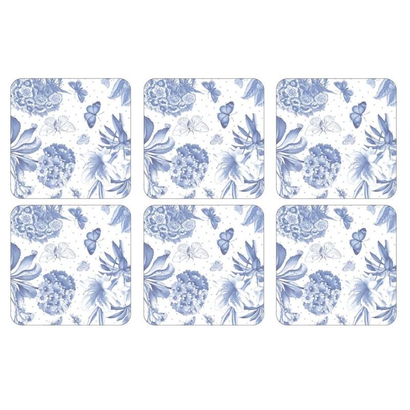 Pimpernel Botanic Blue Coaster Set of 6