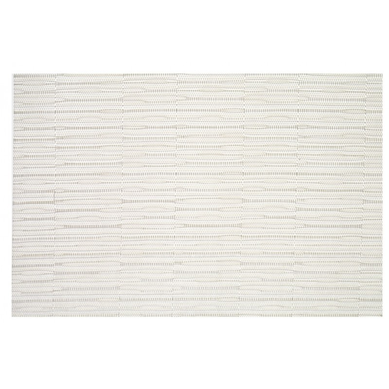 Metallic White Woven Vinyl Tablemats