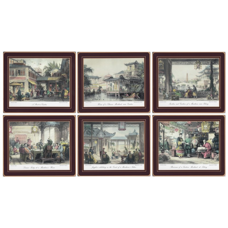 Lady Clare Chinese Engravings Drinks Coaster Set