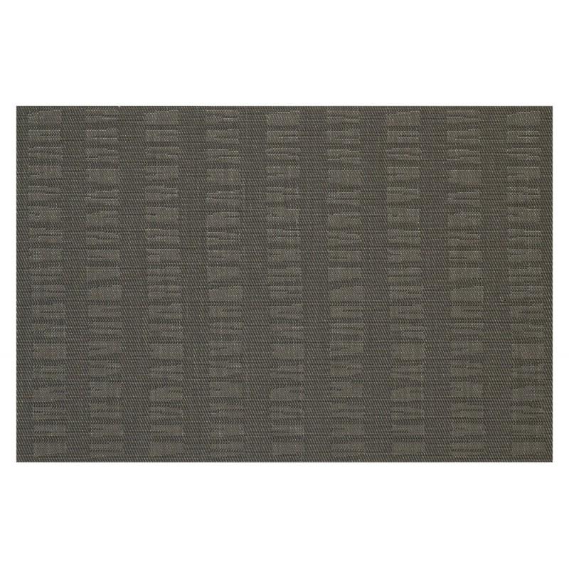 Charcoal Black Woven Vinyl Tablemats