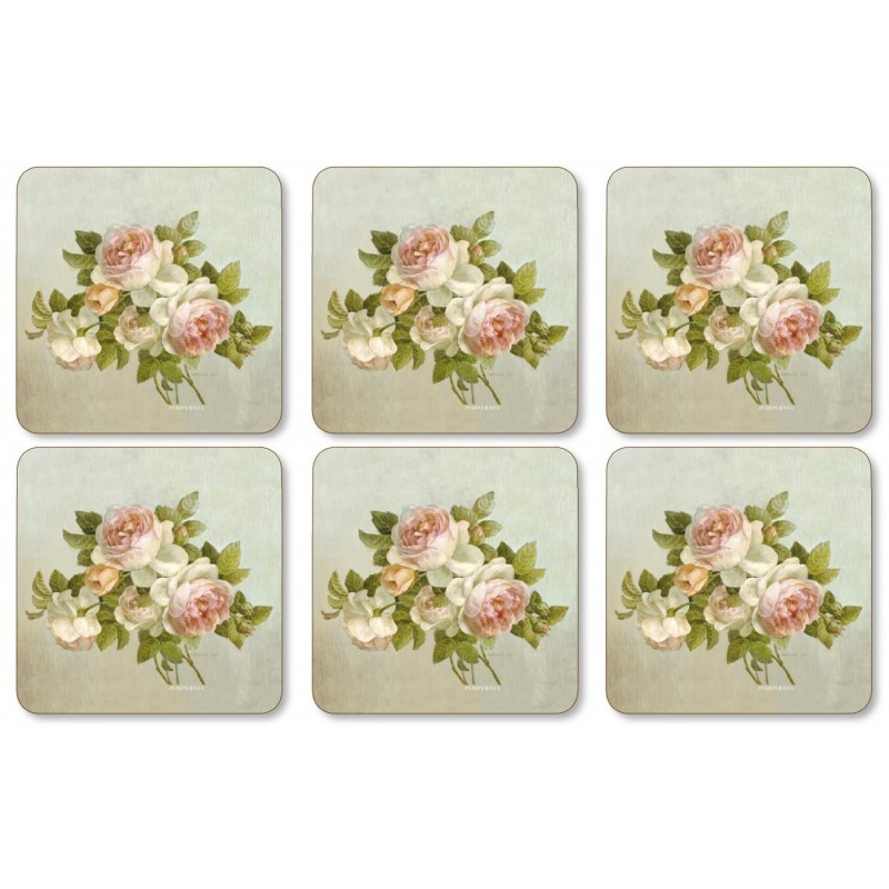 Pimpernel Antique Roses drinks coaster set of 6