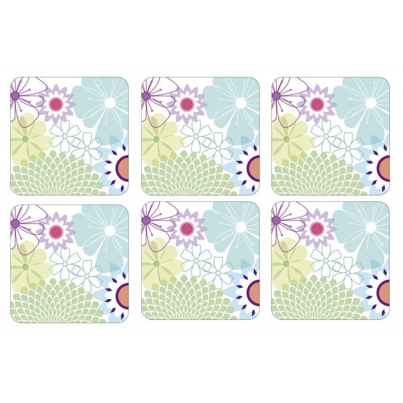 Pimpernel Crazy Daisy set of 6 drinks coasters