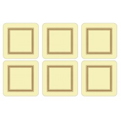 Set of 6 Pimpernel Classic Cream drinks coasters