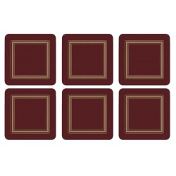Pimpernel Classic Burgundy set of 6 traditional drinks coasters