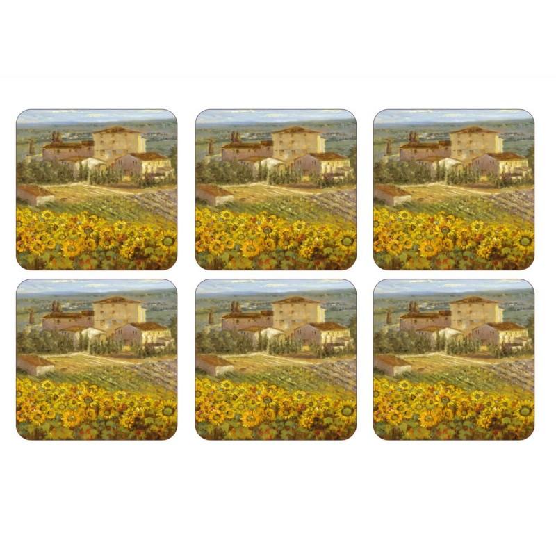 Pimpernel Tuscany drinks coaster set